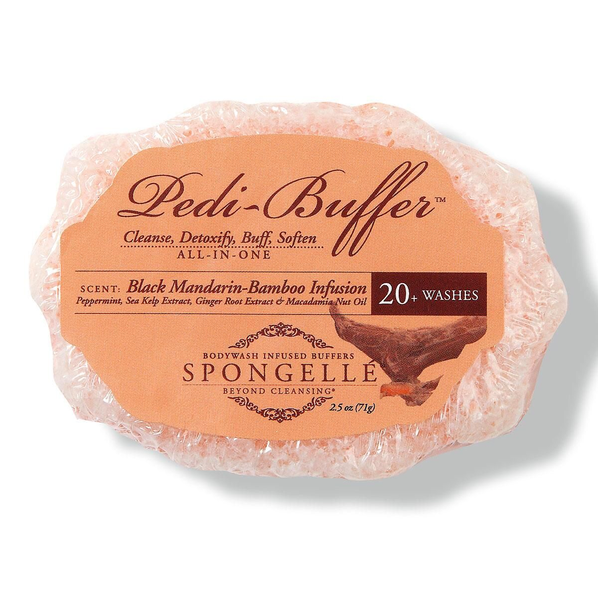 Black Mandarin Spongelle Pedi Buffer