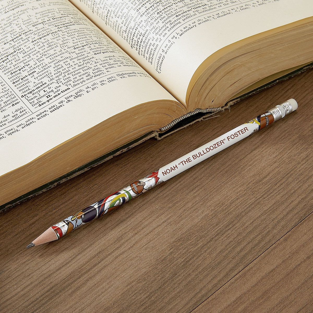 #2 Personalized Hardwood Pencils - Sports