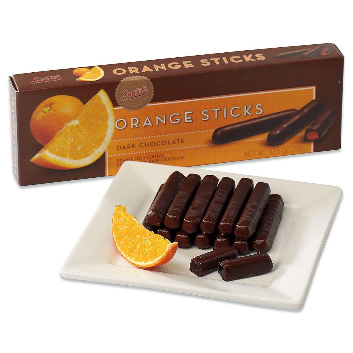 Gourmet Dark Chocolate Orange Sticks
