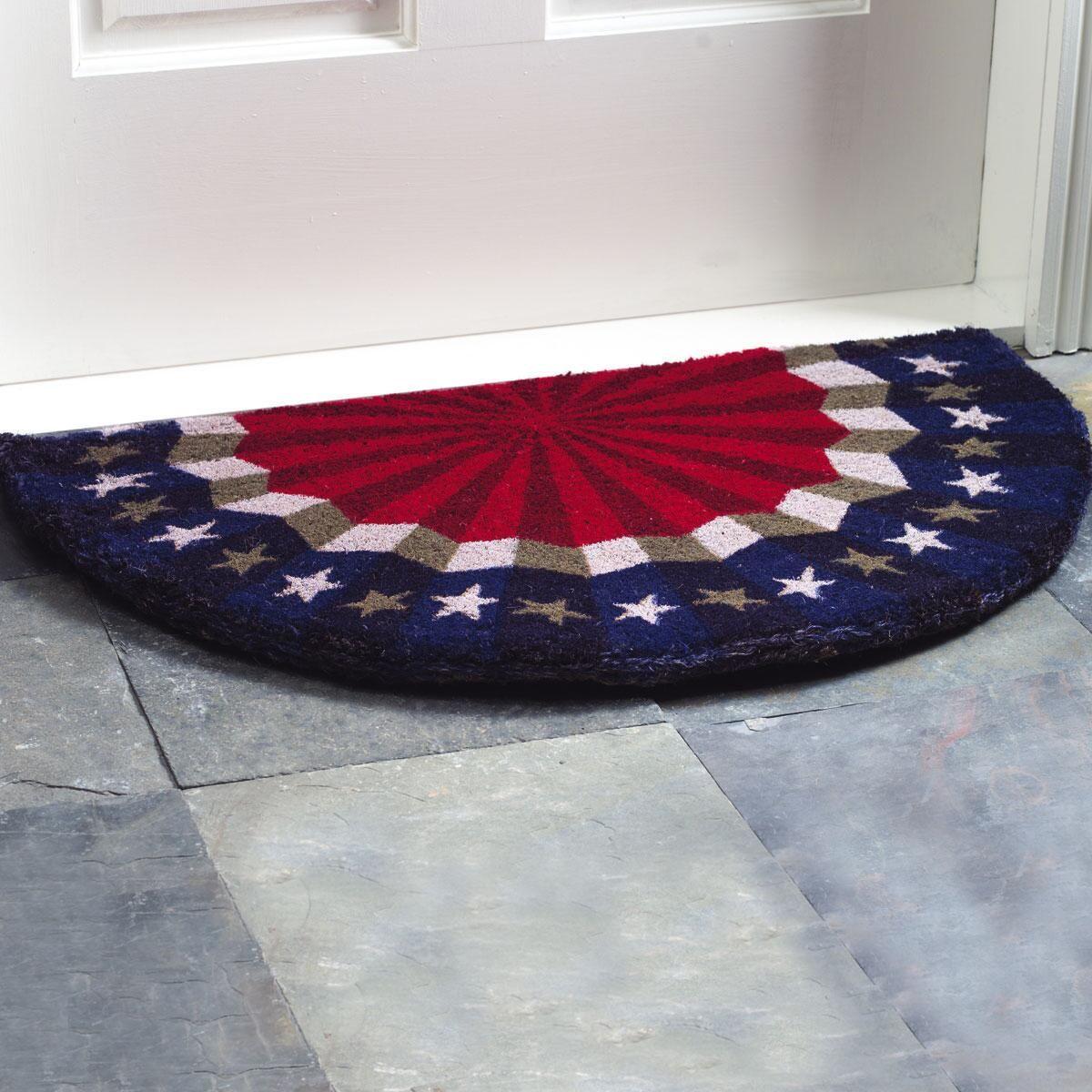 Patriotic Bunting Doormat