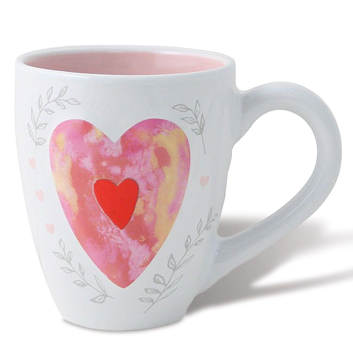 Raised Heart Mug