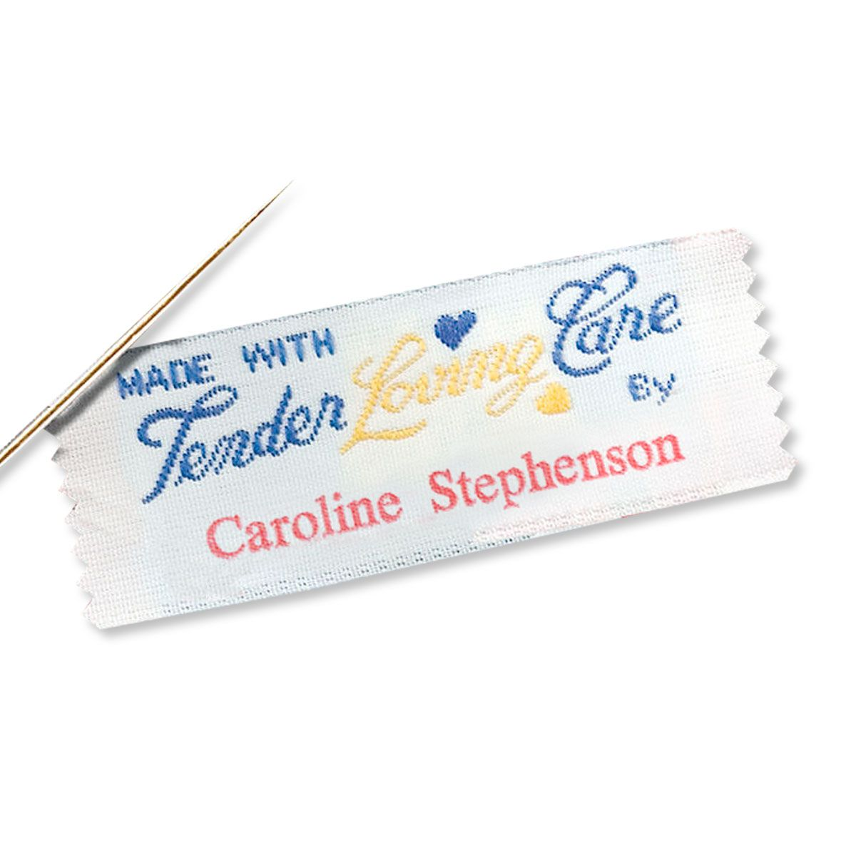 Sewing Labels-Made with tender loving care by-017934