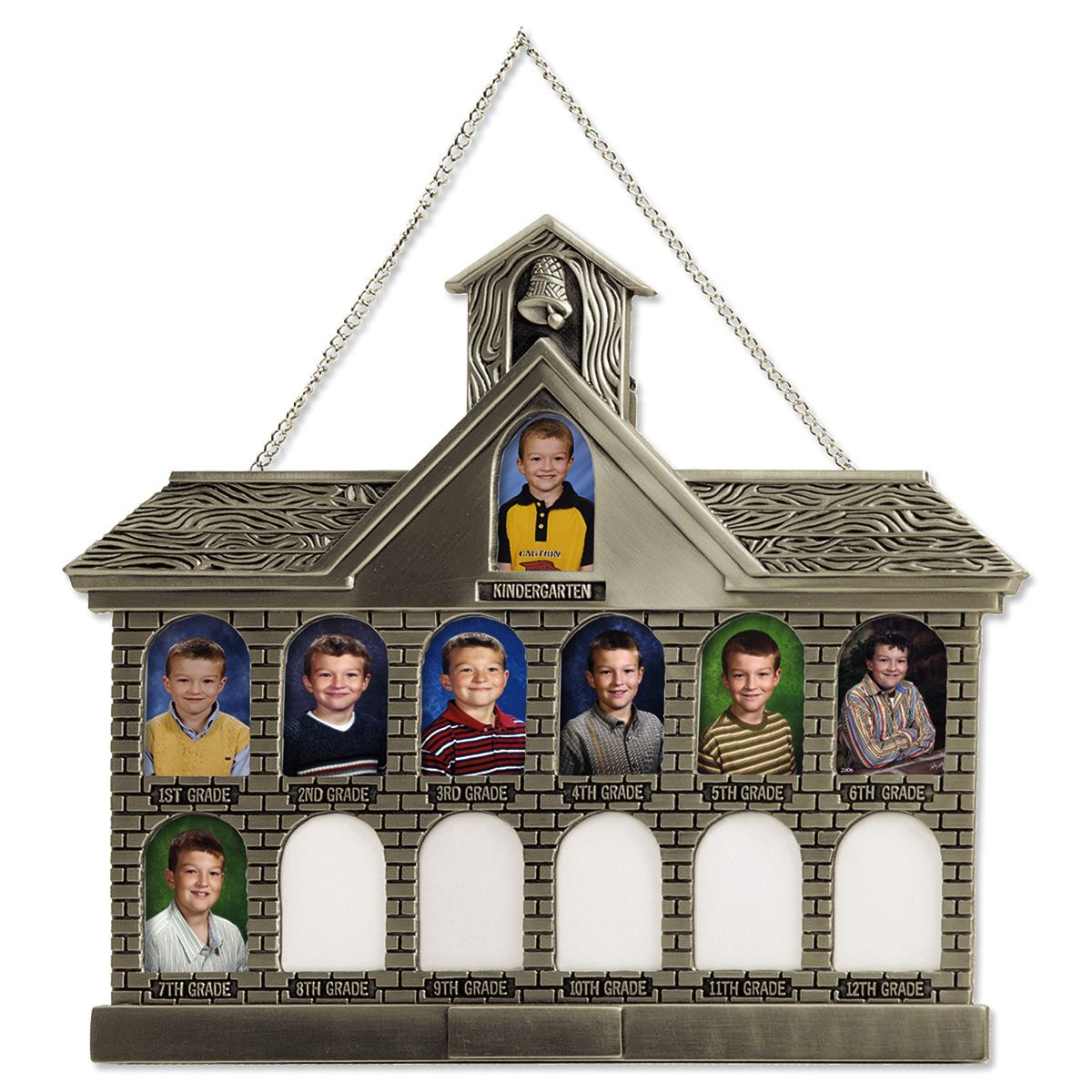 Silver Tone Personalized Schoolhouse Frame