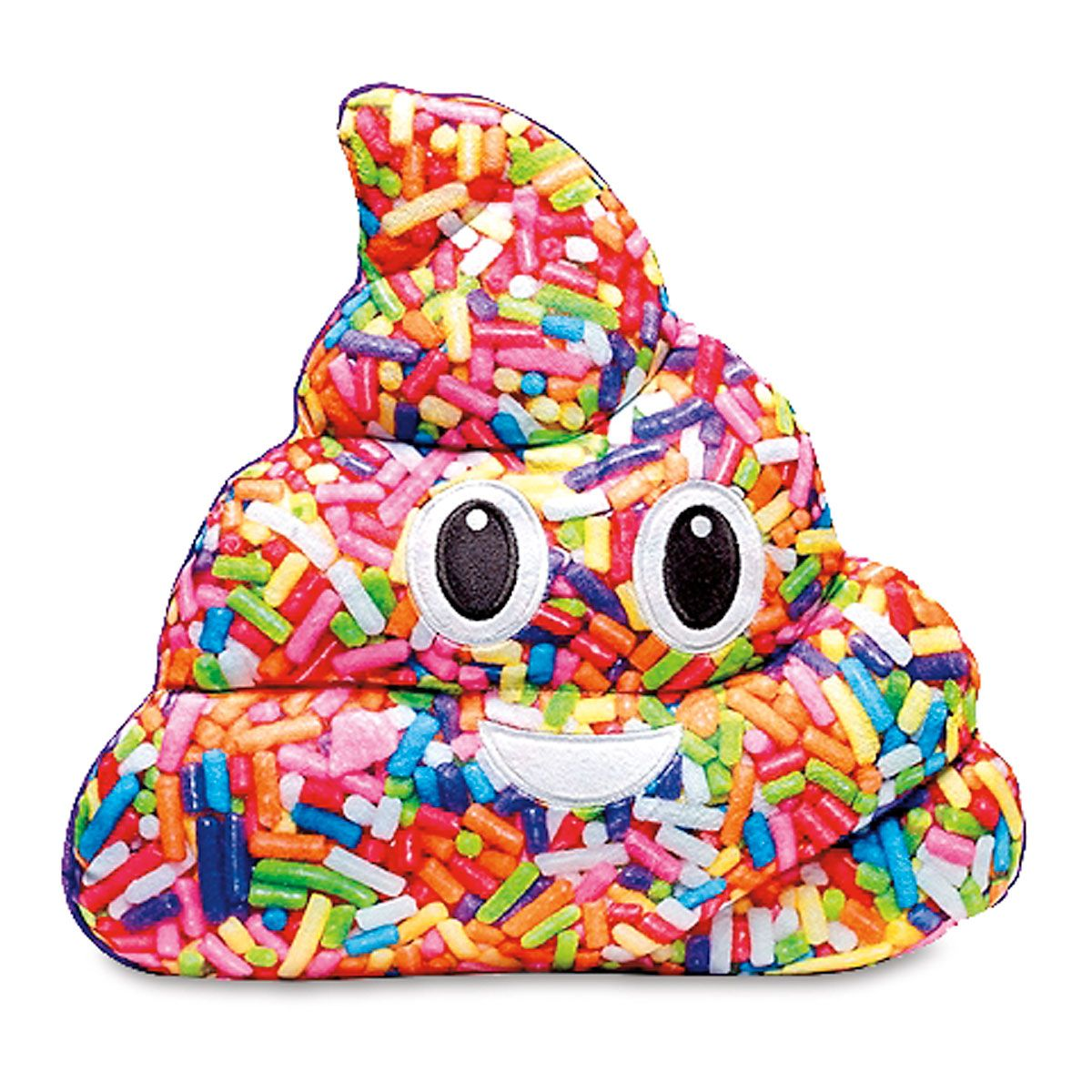 Sprinkle Poop Emoji Pillow
