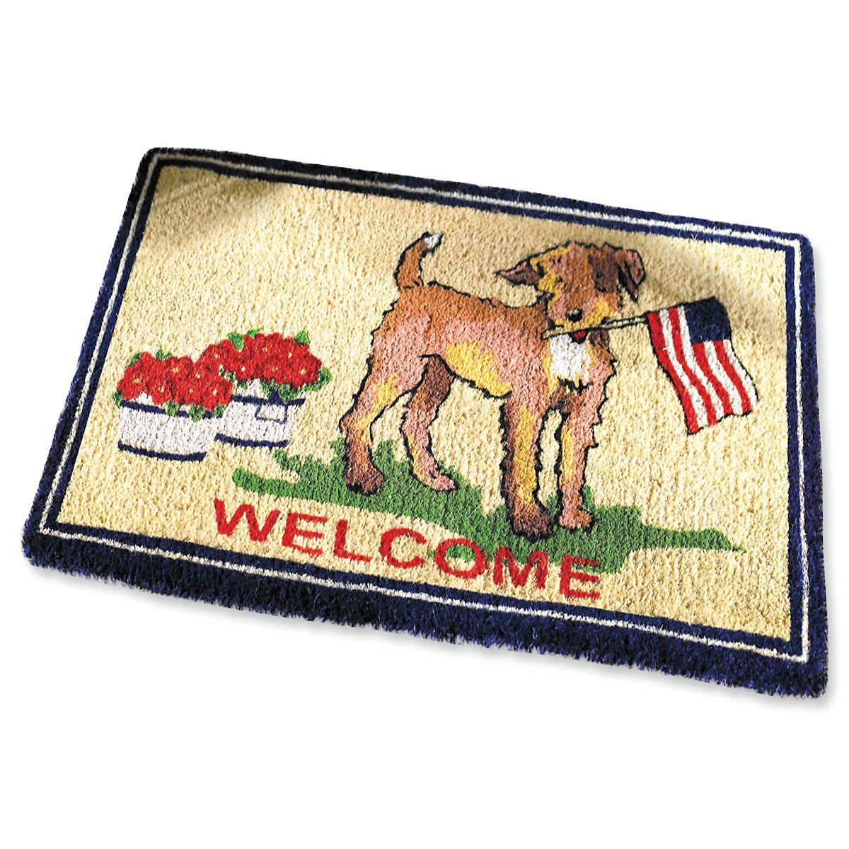 Patriotic Dog Coco Doormat
