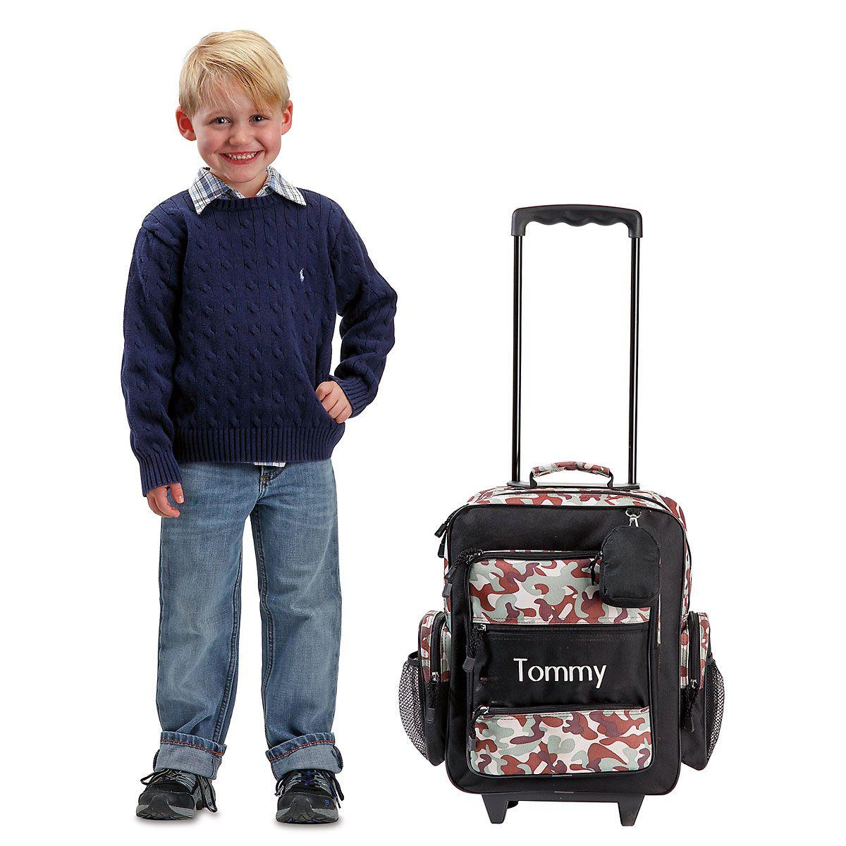 "Black Camo 18"" Rolling Luggage"