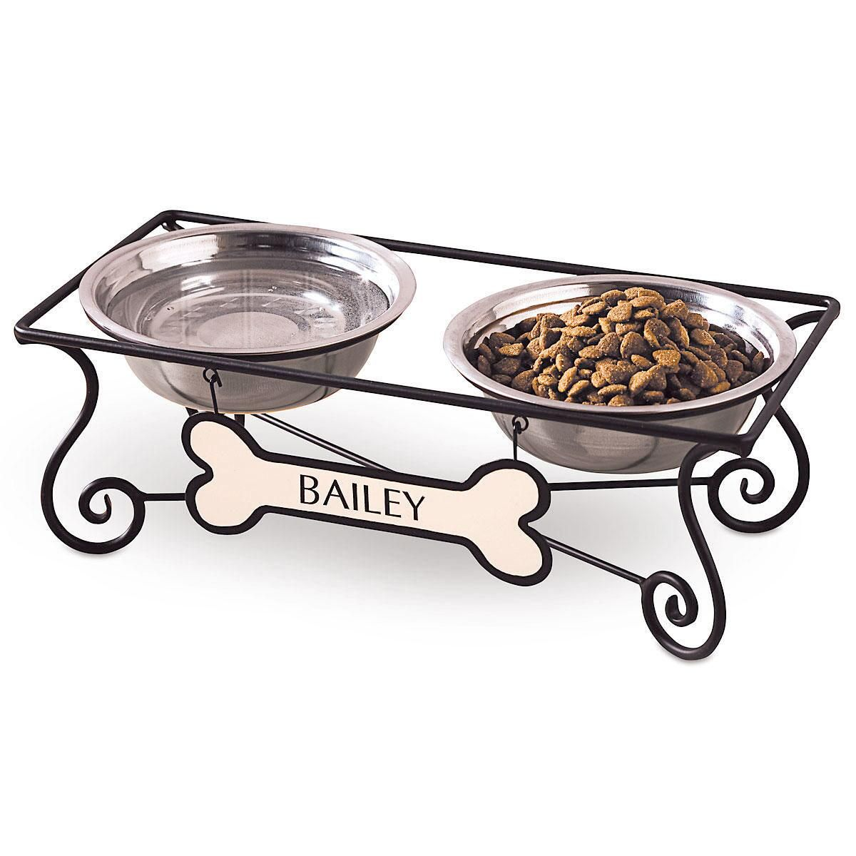 Stainless Steel Dog Bowls and Stand