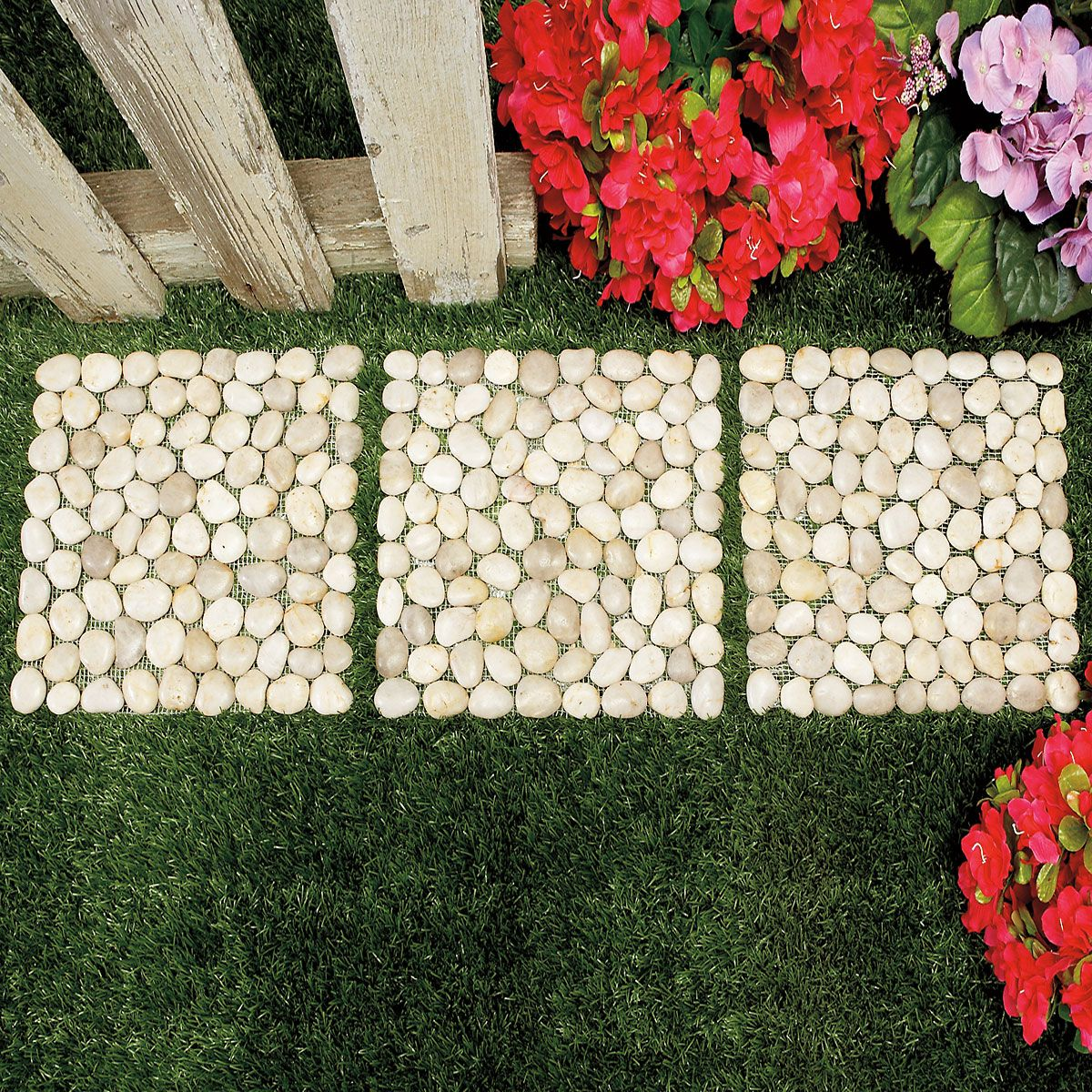 Tan Pebbles Stepping-Stone Set