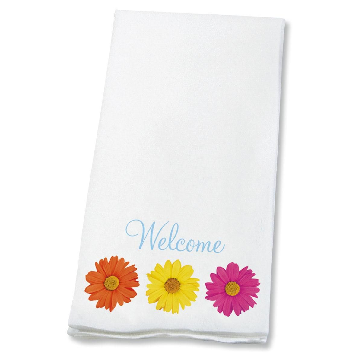 Welcome Gerbera Daisies   Disposable Hand Towels