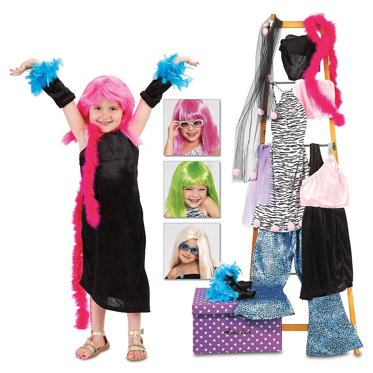 Diva Wigs & Dress Up Trunk Set