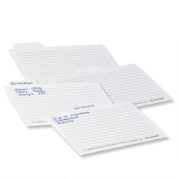 Photo Cropper Hopper™ Refill Index Dividers