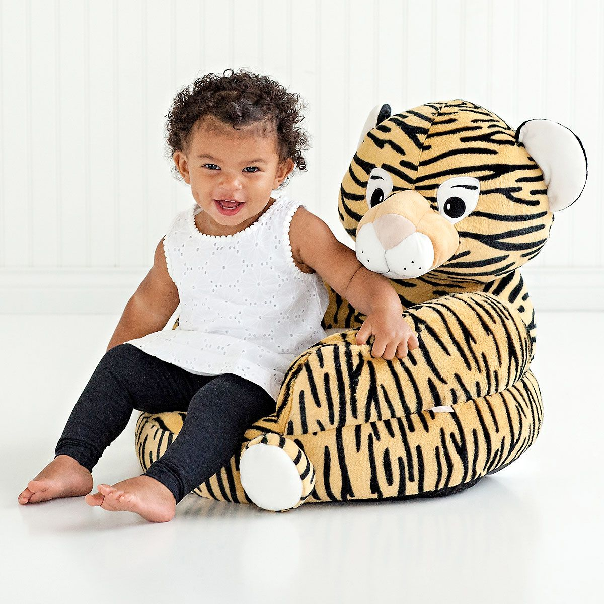 Children's Tiger Plush Character Chair