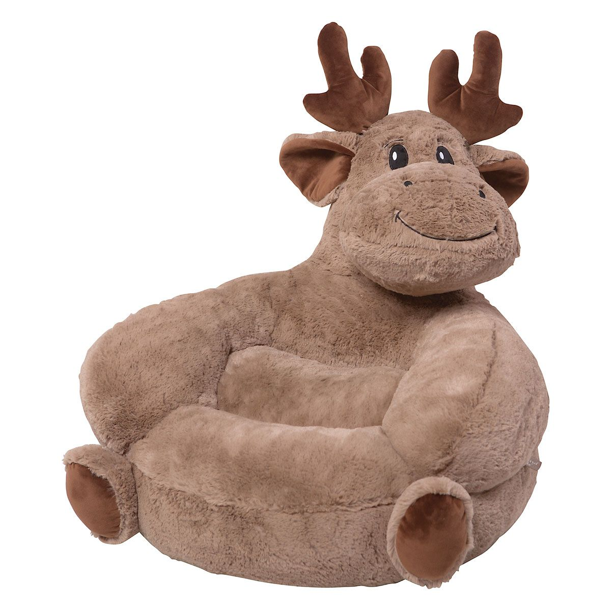 Children's Moose Plush Character Chair