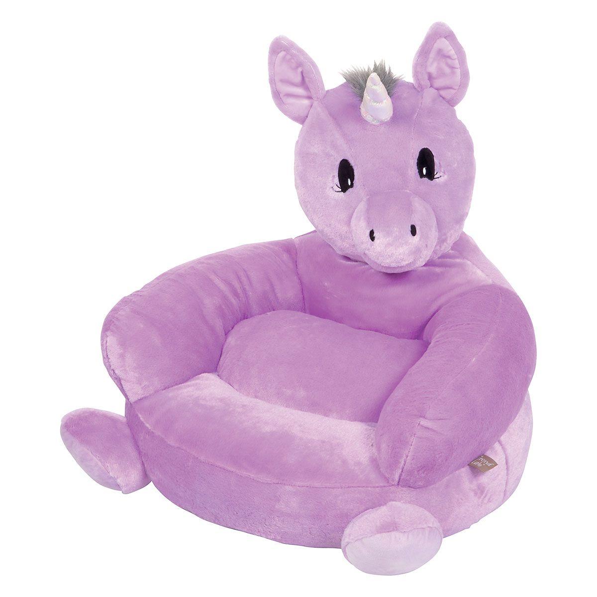 Children's Purple Unicorn Plush Character Chair