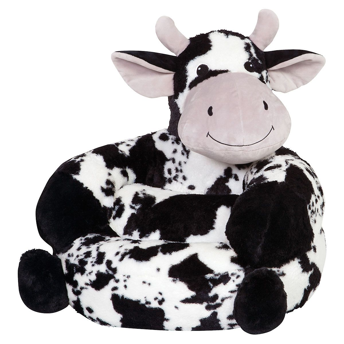 Children's Cow Plush Character Chair