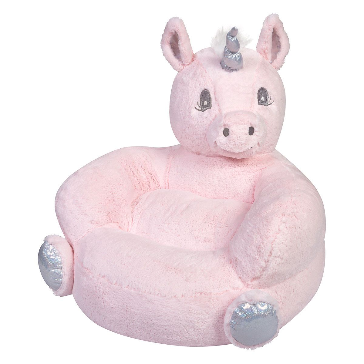 Children's Pink Unicorn Plush Character Chair