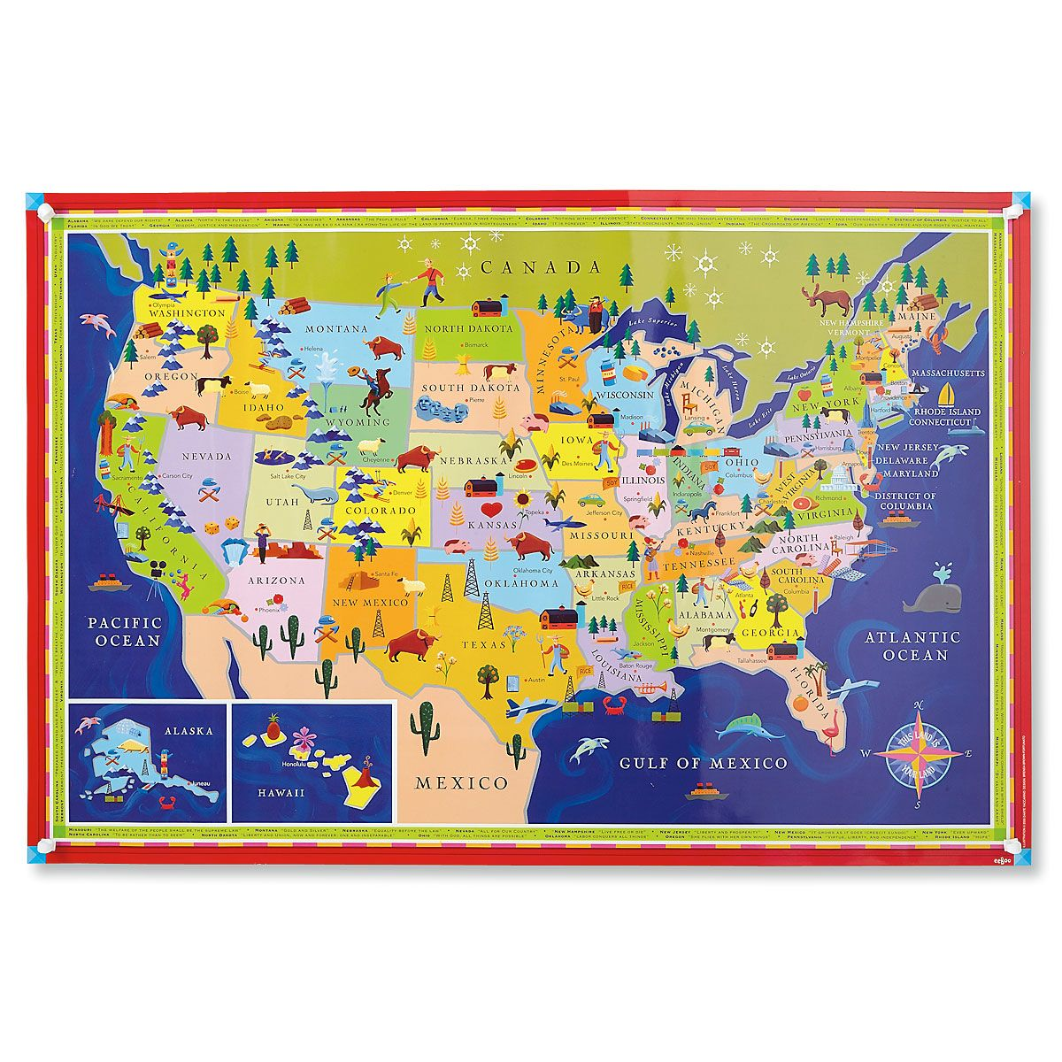 This Land Is Your Land USA Map by Dan Yaccarino