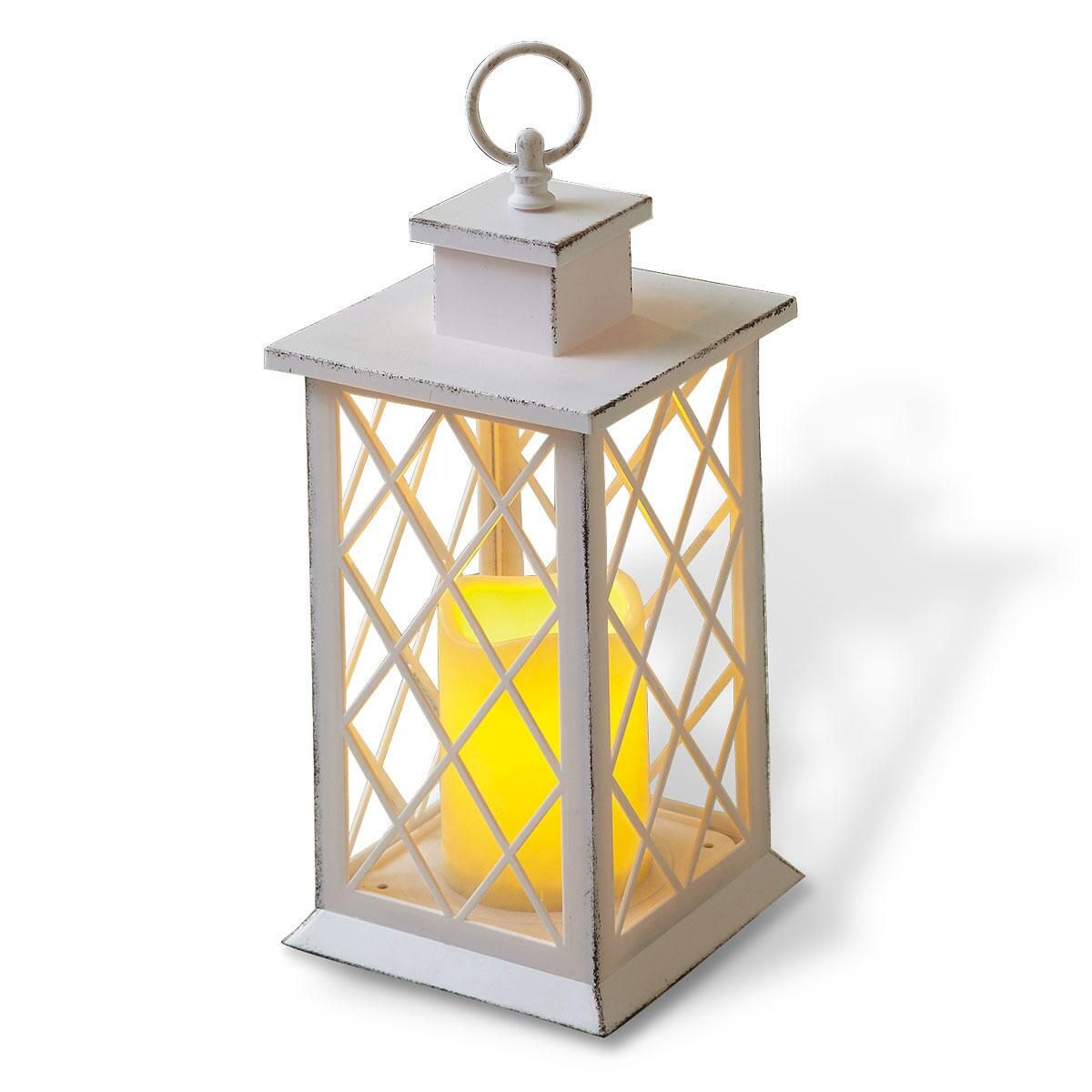 LED Lantern with Cross Window