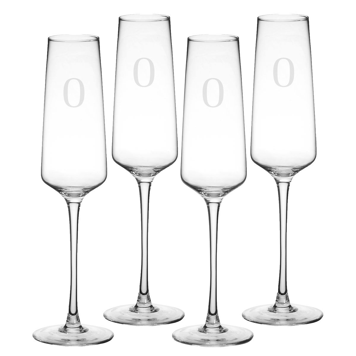 Personalized Estate Champagne Flutes