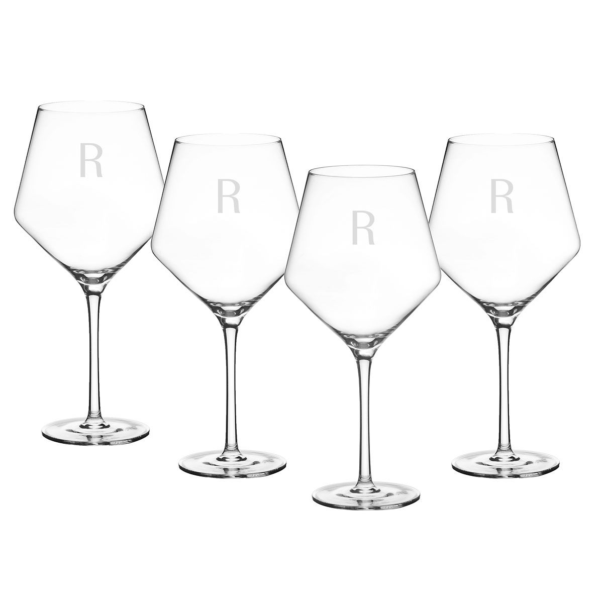 Personalized Estate Red Wine Glasses