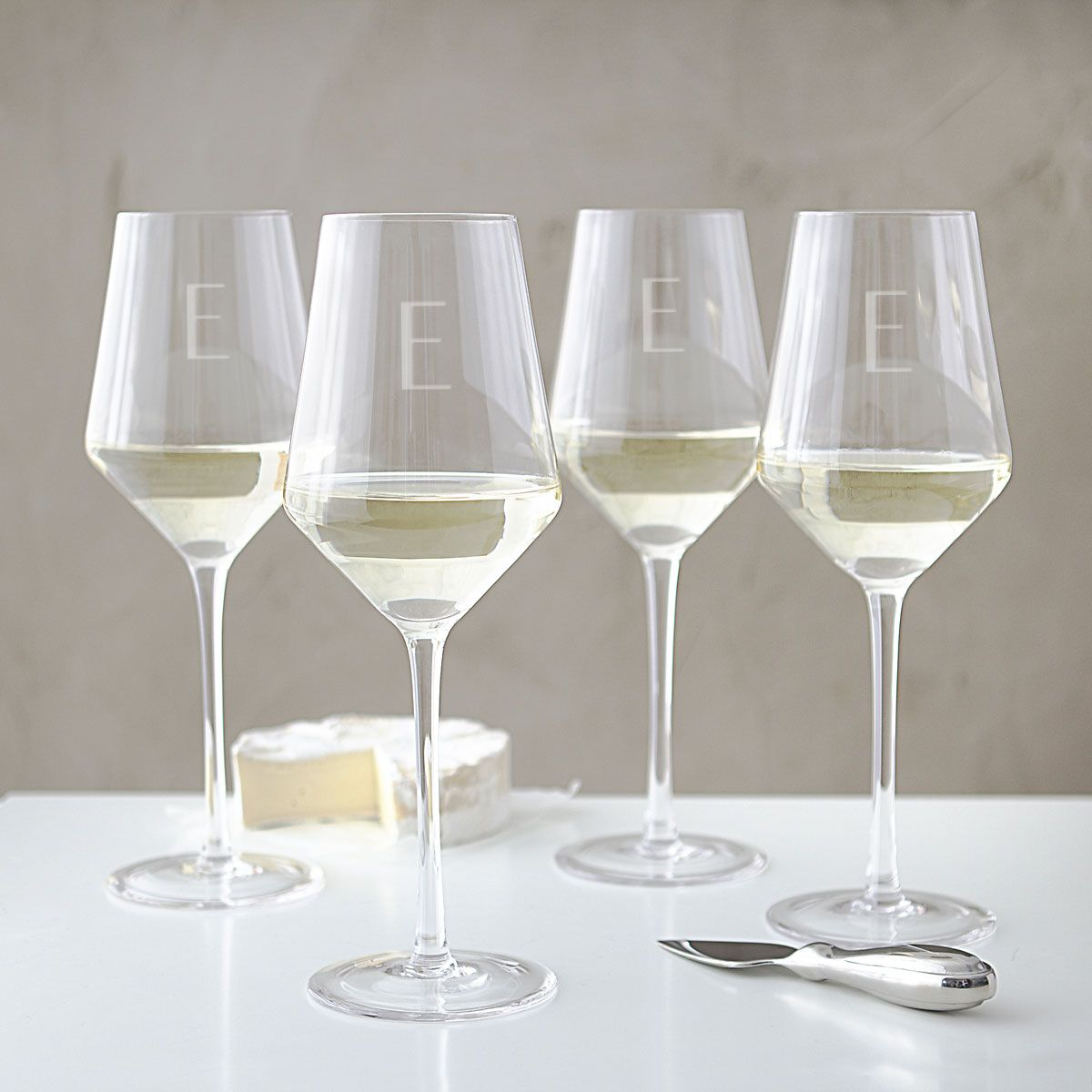 Personalized Estate White Wine Glasses