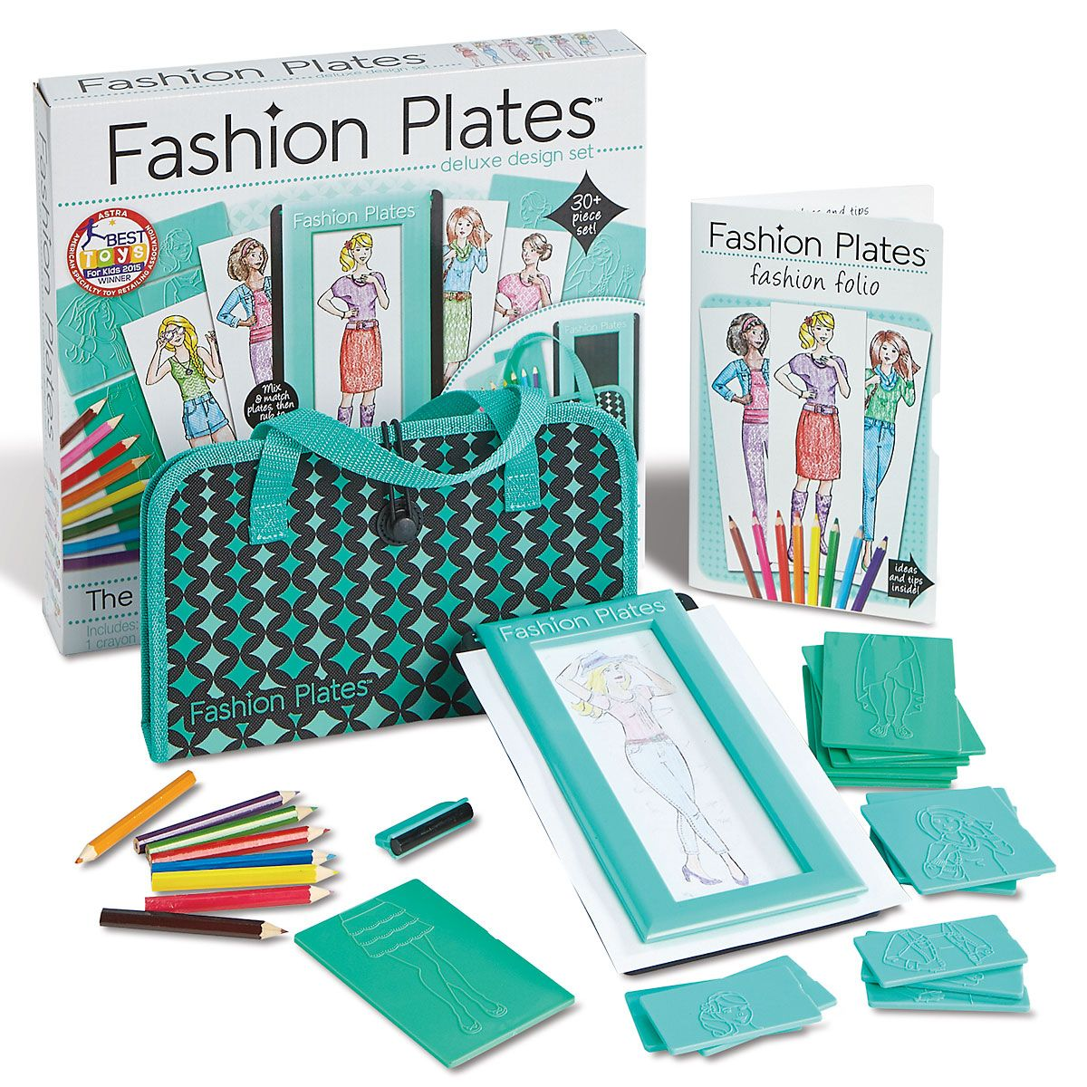 Fashion Plates Design Set and Carry Case