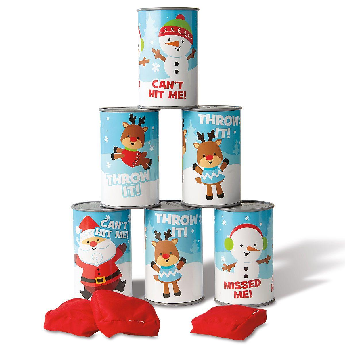 Christmas Can Bean Bag Toss Game