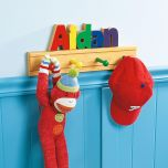 Wooden Name Clothes Rack