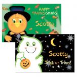Ghost and Green Turkey Reversible Autumn Placemat