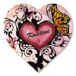 Heart and Butterflies Personalized Stickers