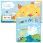 Hello World! Personalized Boardbook for Boys