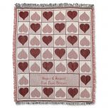 Personalized Valentine Throw