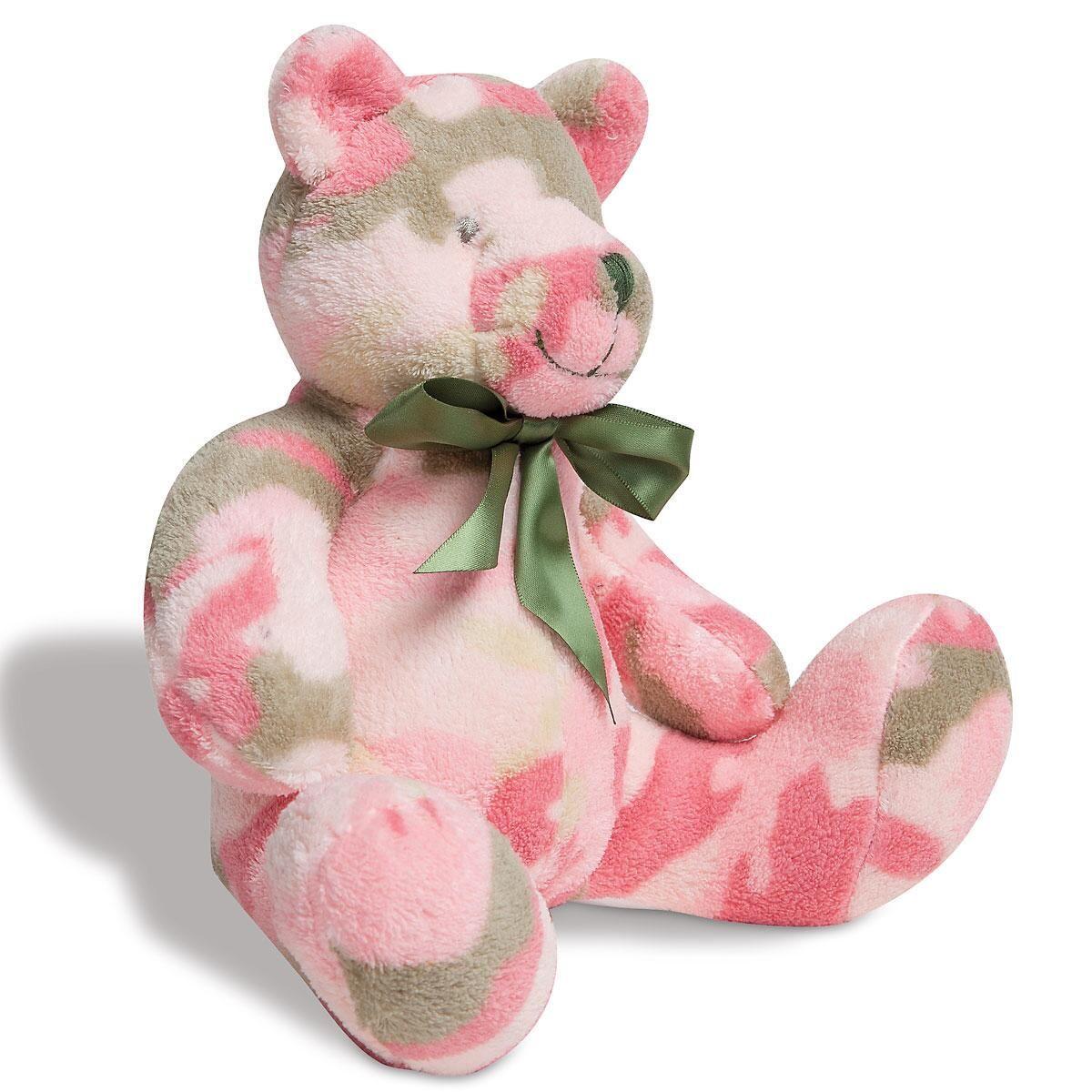 Pink Camo Bear