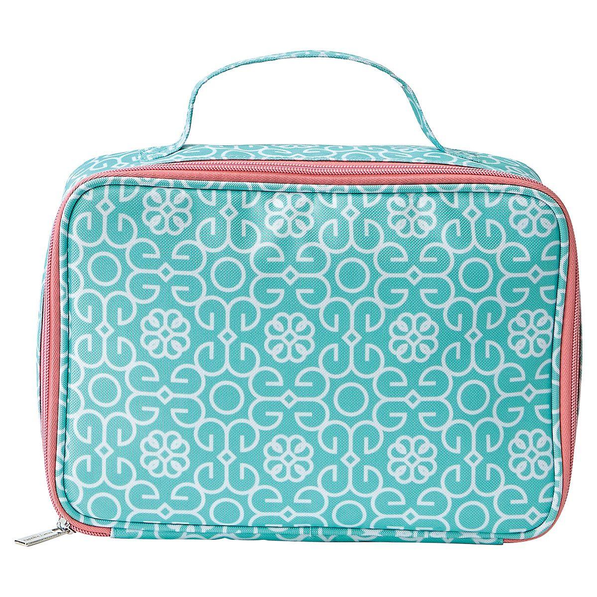 Mint Damask Lunch Bag