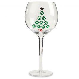 Hand Painted Tree Wine Glass