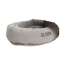 Round Small Silver Treats Dog Bed by Bowsers Pet Products