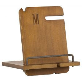 Wooden Docking Station Personalized - Single Initial