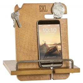 Wooden Docking Station Personalized- 3 Initials