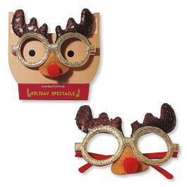 Holiday Reindeer Novelty Glasses