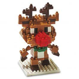 Christmas-in-a Box Reindeer Building Blocks
