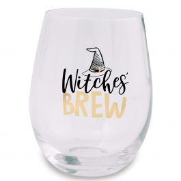 Witches Brew Halloween Stemless Wine Glass