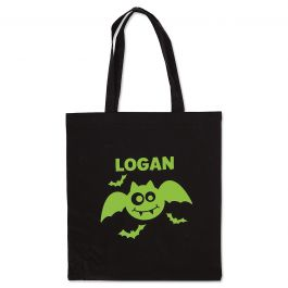Personalized Bat Glow-in-the-Dark Halloween Treat Bag