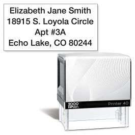 Standard Black Self-Inking Address Stamp