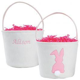 Pink Fabric Bunny Bucket