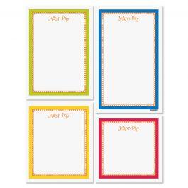 Bright Borders Notepad Set