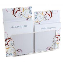 Fantasia Notepad Set & Acrylic Holder