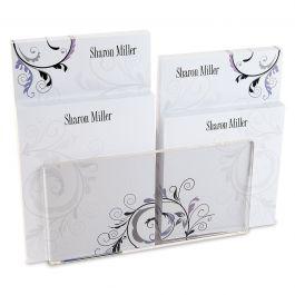 Black & Grey Fantasy Notepad Set & Acrylic Holder