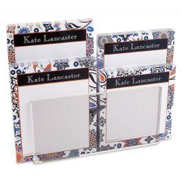Color Paisley Notepad Set & Acrylic Holder