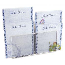Exotic Prints Notepad Set & Acrylic Holder