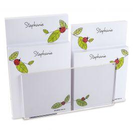 Ladybugs Notepad Set & Acrylic Holder